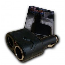 Dual Car Socket 12V 5A Power Adapter