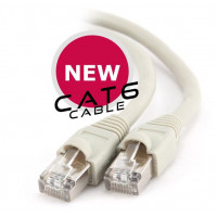 Cat6 Patch Cord With Moulded Strain Relief - 1 Metre Network cable- CB-CAT6/1M