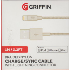 Griffin Charge / Sync Cable Lightning USB Braided iPhone iPad 1m