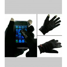 Climate touch technology smart phone tablet gloves black