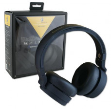 Base Booster Foldable Stereo Bluetooth Headphones black with mic