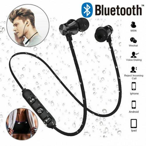Wireless Bluetooth Earphones Headphones Sport Gym For Samsung iPhone