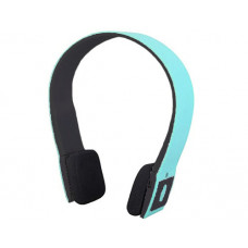 Bluetooth overhead headphones blue / black