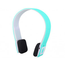 Bluetooth overhead headphones blue / white
