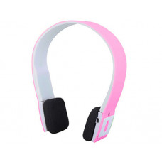 Bluetooth overhead headphones pink / white