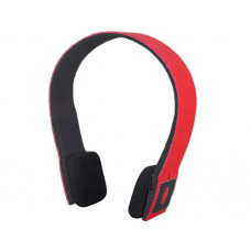 Bluetooth overhead headphones red / black