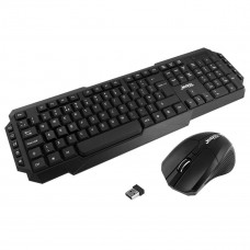Jedel WS880 Wireless Gaming Keyboard and 3 Button Mouse Set - Black/Black