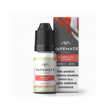 Strawberries & Cream NICOTINE FREE Vapemate classic E liquid 0mg 10ml